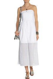 Tibi Kat broderie anglaise cotton midi dress