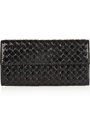 Intrecciato watersnake continental wallet