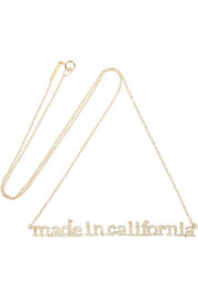 Jennifer Meyer + Wear LACMA Made In California 18-karat gold diamond necklace