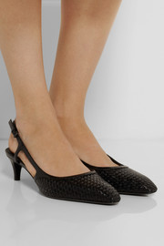 Bottega Veneta Intrecciato leather slingback pumps
