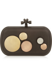 Bottega Veneta The Knot embellished brass clutch