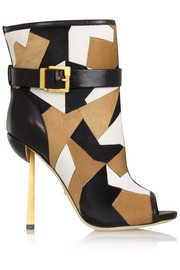 Medea patchwork calf hair ankle boots