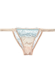 Mimi Holliday by Damaris Banoffee Pie lace and stretch-silk briefs