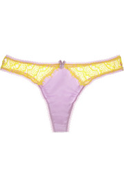 Mimi Holliday by Damaris Banana Split stretch-silk satin thong