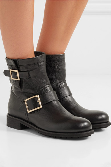 Jimmy Choo Youth Leather Ankle Boots Net A Porter Com