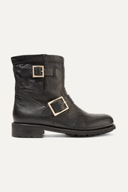 Youth leather ankle boots