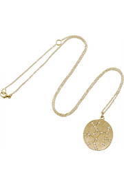 Sagittarius 14-karat gold diamond necklace