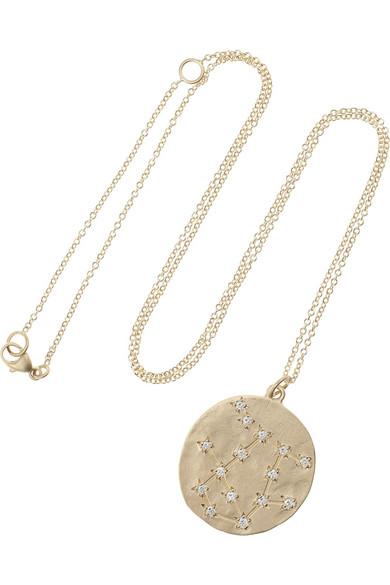 Brooke Gregson Gemini 14-karat Gold Diamond Necklace CLIO2