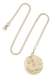 Brooke Gregson Capricorn 14-karat gold diamond necklace
