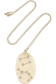Aquarius 14-karat gold diamond necklace