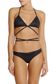 Gucci Wrap-around mesh triangle bikini