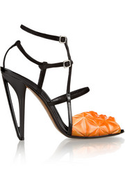 Fendi Iridia suede and PVC sandals