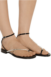 Fendi Lizard-effect leather and PVC sandals