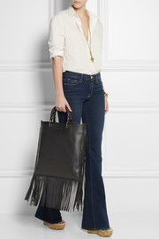 Gucci Fringed textured-leather tote