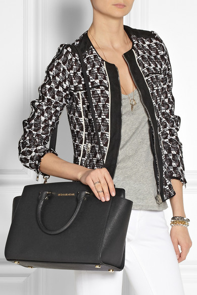 a1e7f4a160dd MICHAEL Michael Kors. Selma large textured-leather tote. $214.80. Zoom In