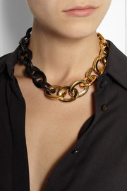 Maiyet Gold-plated horn necklace