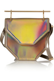 Amor Fati holographic leather clutch