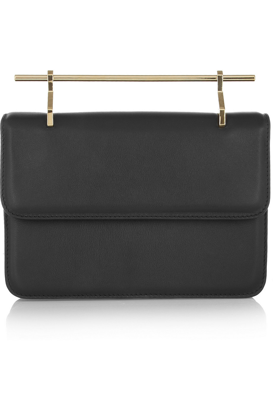 M2Malletier La Fleur Du Mal Leather Clutch, Black, Women's, Size: One Size