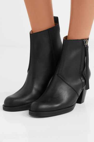 Acne Studios Pistol Ankle Boots Made Of Leather