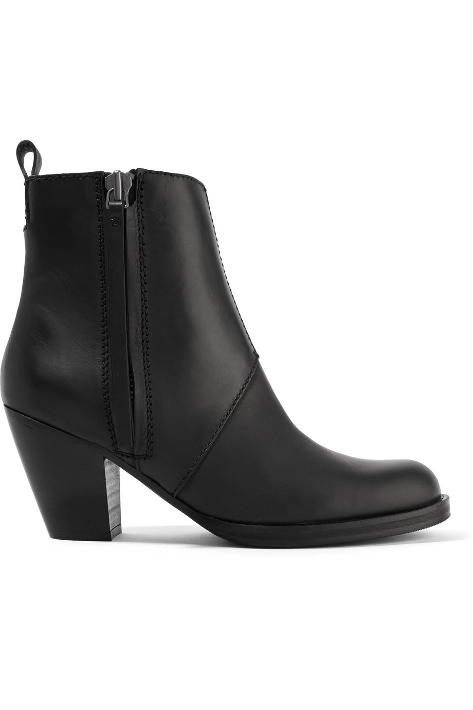 Acne Studios The Pistol Leather Ankle Boots, Black, Women's US Size: 8.5, Size: 39