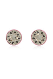 Givenchy Round earrings in baby-pink lacquered brass and crystal