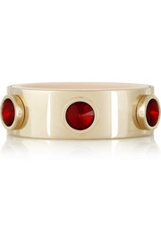 Gold-tone crystal bangle