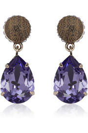 Givenchy Cone pendant earrings in wood and crystal