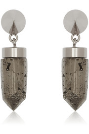 Givenchy Cone pendant earrings in pyrite