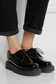 Purified + George Cox snake-effect patent-leather creepers