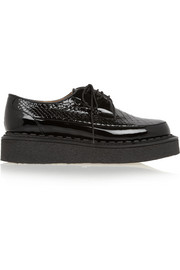 + George Cox snake-effect patent-leather creepers