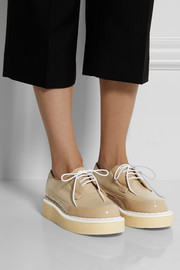 Purified + George Cox leather and patent-leather creepers