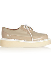 + George Cox leather and patent-leather creepers
