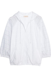 Encintas broderie anglaise cotton hooded top