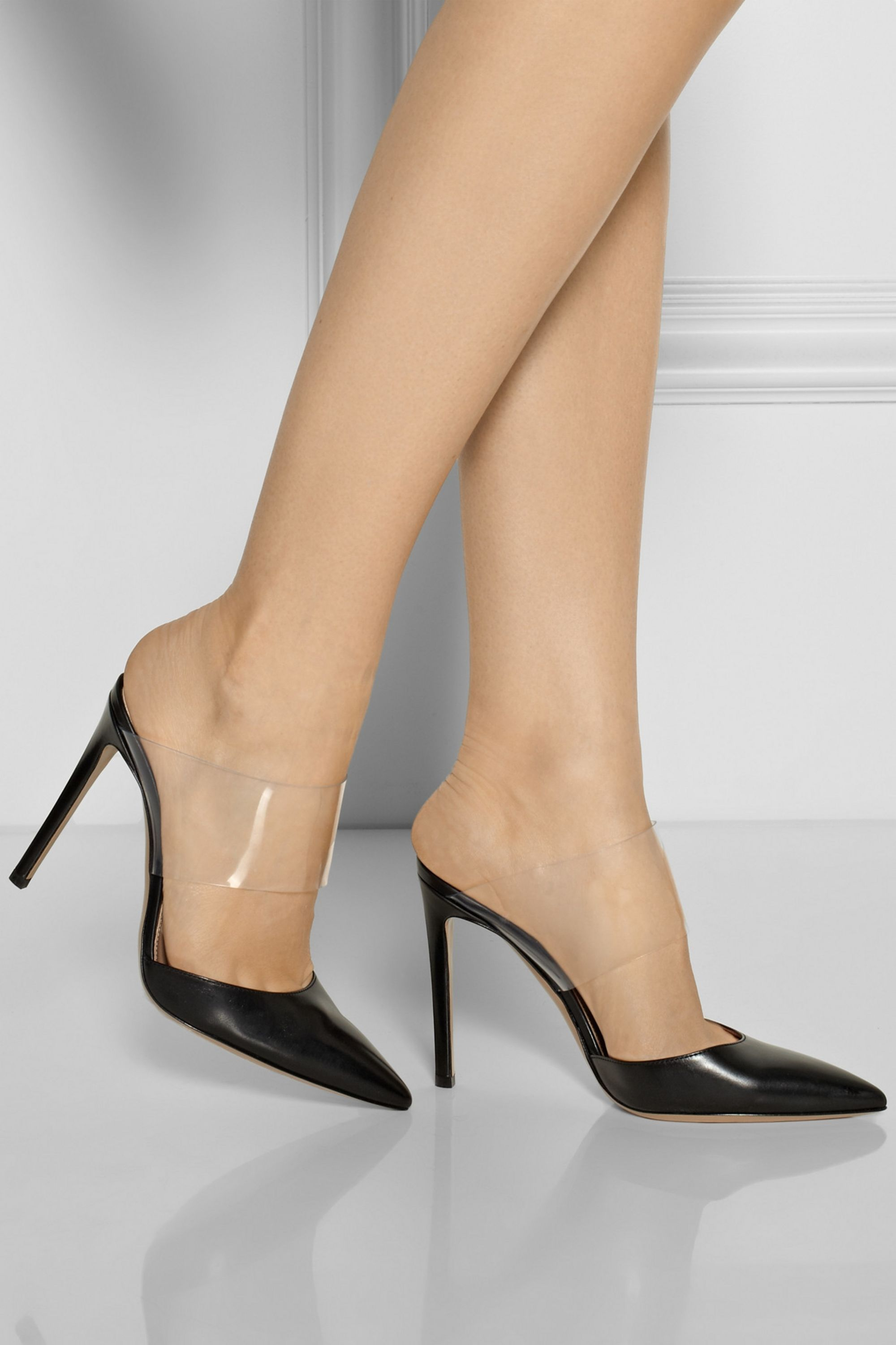 Gianvito Rossi Leather and PVC pumps
