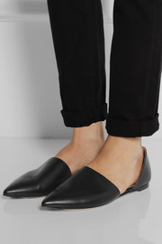 Gianvito Rossi Leather point-toe flats