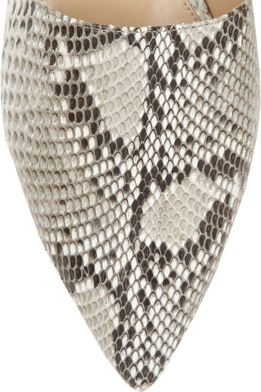 Gianvito Rossi Python point-toe flats