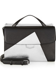 Fendi Demi-Jour color-block textured-leather shoulder bag