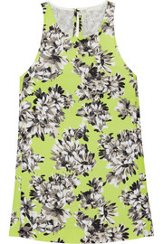 J.Crew Collection floral-print piqué top