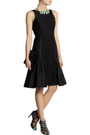 J.Crew Collection paneled silk and cotton-blend dress