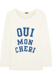 J.Crew Mon Cheri cotton-terry sweatshirt