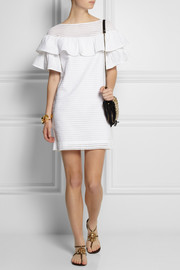 J.Crew Collection ruffled broderie anglaise cotton mini dress