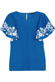 J.Crew Collection embroidered linen top
