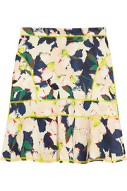 J.Crew Surf floral-print stretch-scuba mini skirt