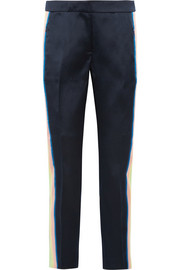 Collection Ace striped satin-twill tapered pants