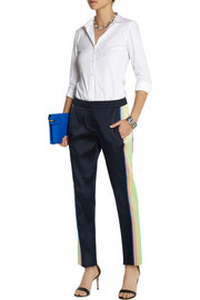 J.Crew Collection Ace striped satin-twill tapered pants