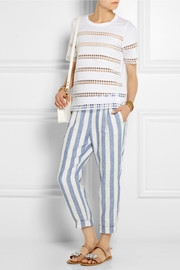 J.Crew Striped linen tapered pants