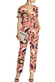 J.Crew Collection Spike printed silk jumpsuit