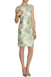 J.Crew Collection metallic brocade dress
