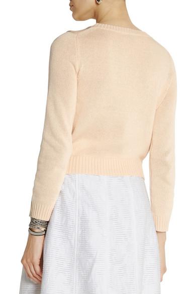 J.Crew | Cropped cotton sweater | NET-A-PORTER.COM