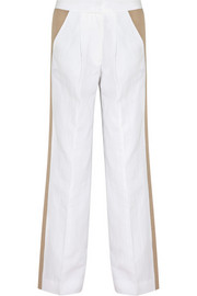J.Crew Collection cotton and linen-blend wide-leg pants